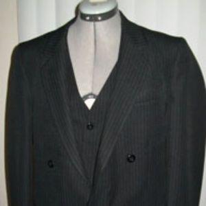 Mens Striped Blazer with Vest